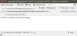 Nevyžádaný e-mail.