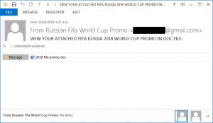 Výstřižek podvodného e-mailu