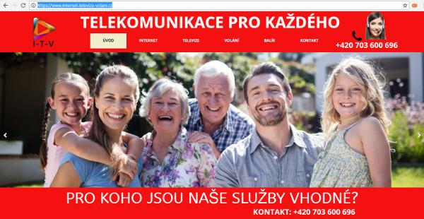 Webová stránka falešného poskytovatele