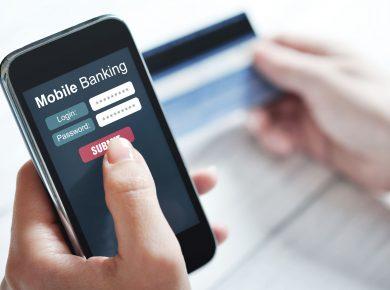Internetové bankovnictví na mobilu