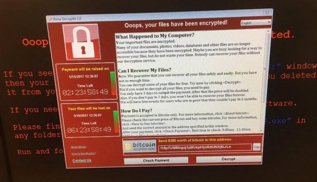 Zpráva, kterou požaduje ransomware WannaCry