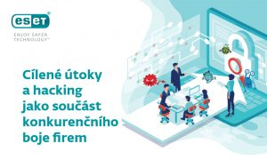 Infografika - Cílené útoky a hacking jako součást konkurenčního boje firem.