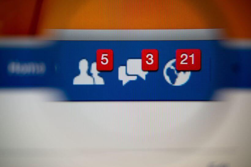 Facebook notifikace