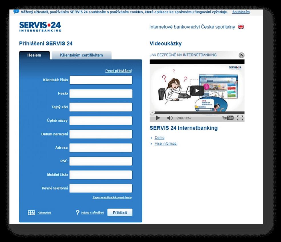 Ukázka phishingu.