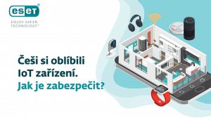 infografika - IoT zařízení, chytrá domácnost - jak je zabezpečit