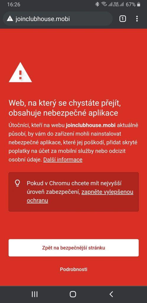 ESET před stránkou s falešnou aplikací varuje