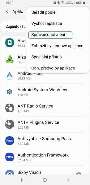 Jak nastavit oprávnění v Androidu